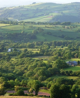 Carmarthenshire farmland from the Black mountain by Isabel Macho